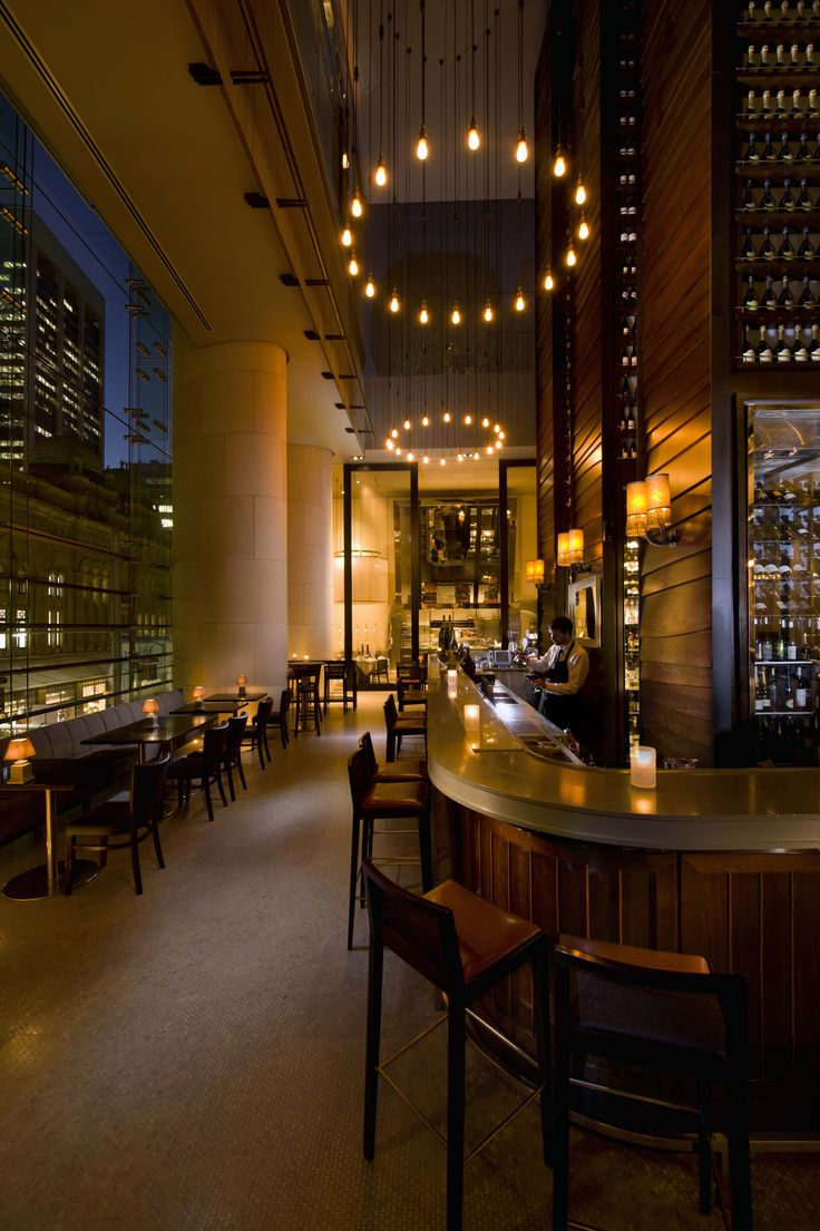 The wine bar at glass brasserie
