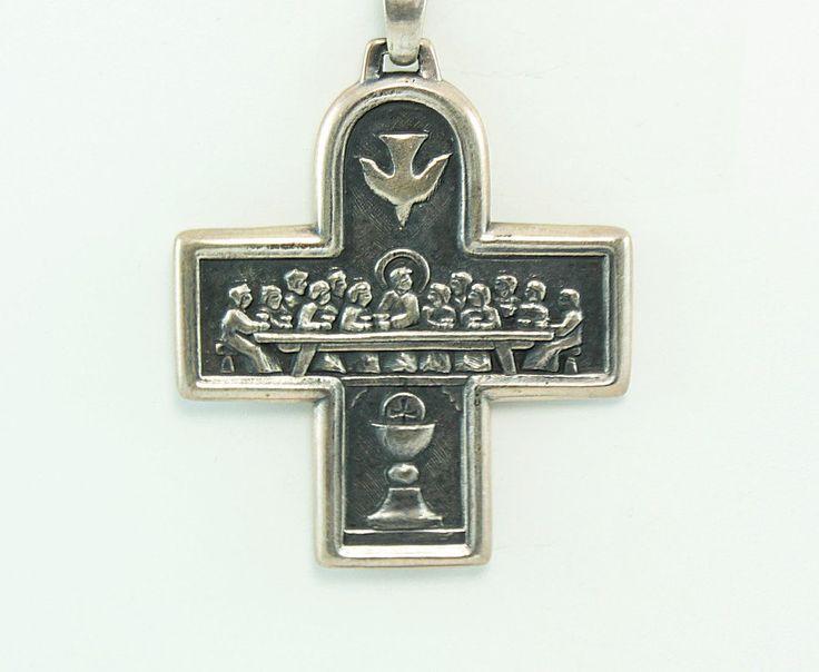 Cross Pendant,Cross Pendant in Vintage,Cross Pendant in Silver,Cross Pendant in Antique,Cross Pendant in Handmade by OliviaStuardTreasure on Etsy