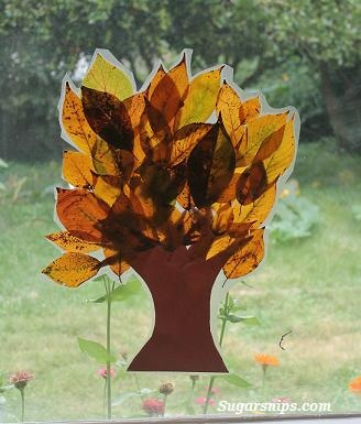Fall leaf tree decoration - pretty quick & simple craft. L enjoyed looking for leaves & was very specific on how she arranged her leaves. She is already asking to make another Fall tree & one in the Spring. Count this as a success.