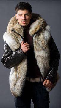 men's faux fur   Men's Coyote Fur Vest