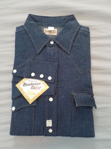 4c6ad803 Details about 50s Vintage Big Smith Buckaroo Pleated Sanforized ...