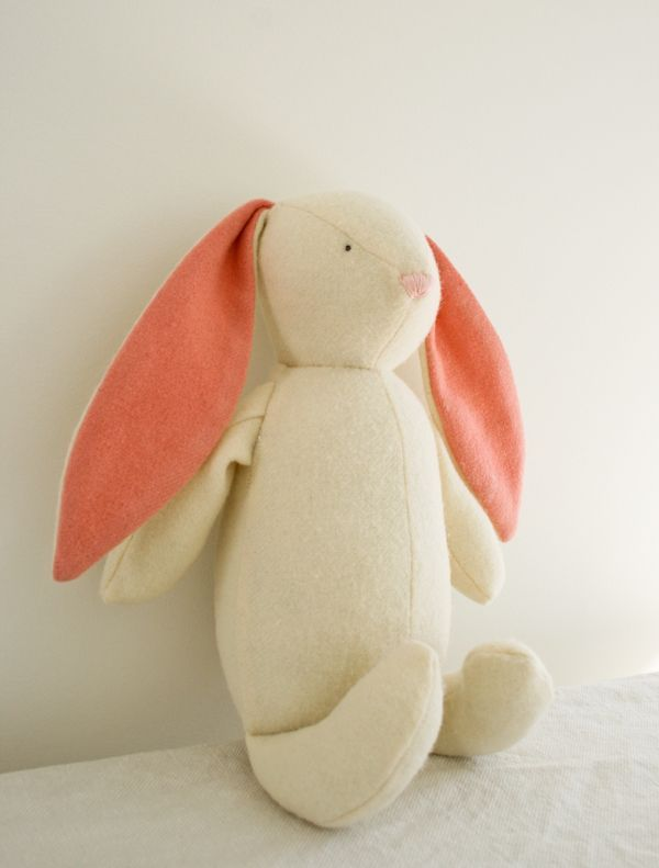 Molly's Sketchbook: Soft WoolenBunny - Knitting Crochet Sewing Crafts Patterns and Ideas! - the purl bee