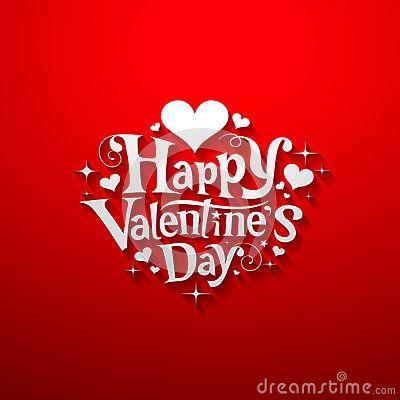 Mensaje de Feliz Día de San Valentín. Fondo rojo. Happy Valentine´s Day.