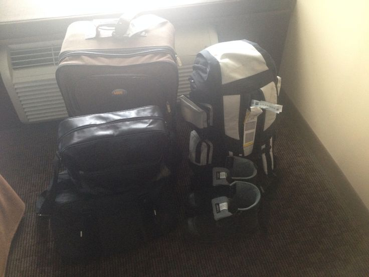 September 23rd-bags waiting for Rene to come stay with him and sue in Calgary :)