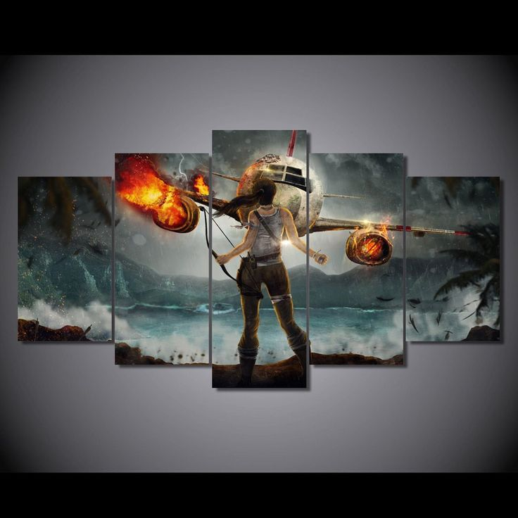 We specialize in high quality large multi panel wall canvas purchase this amazing lara croft adventure wall canvas today we will ship the canvas for free