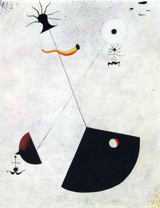 'Mutterschaft', öl auf leinwand von Joan Miró (1893-1983, Spain)