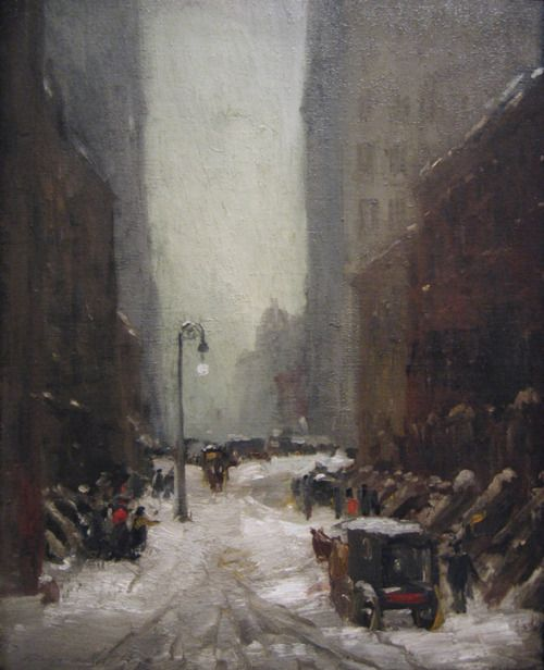 Robert Henri     Snow in New York  1902