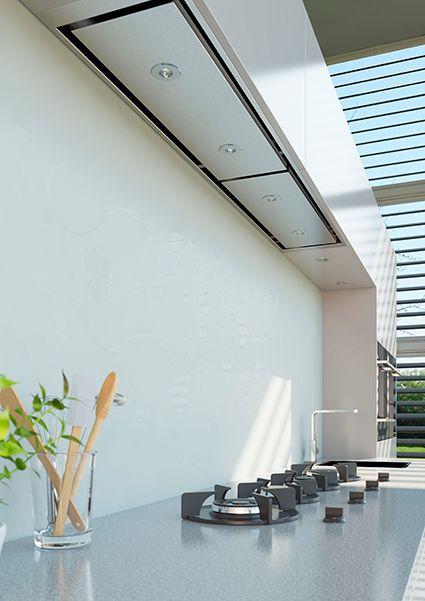 Wave design afzuigkap inbouw. Verlichting van Dekker Zevenhuizen