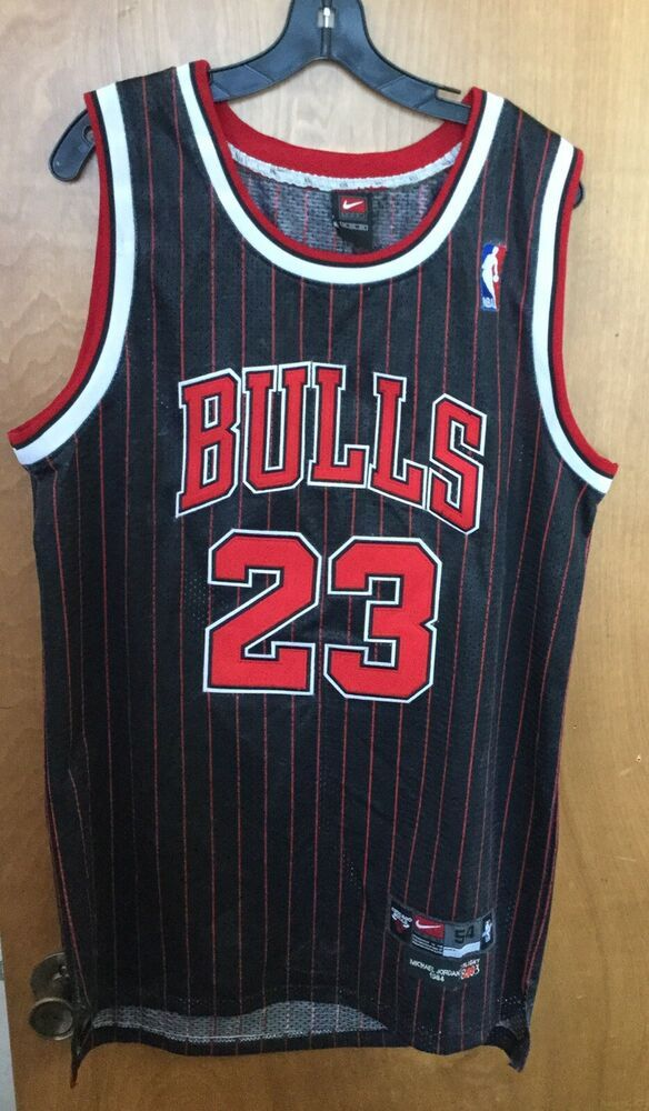detailed look 4641b adf2f Michael Jordan 1984 Chicago Bulls Nike Black Jersey Flight ...
