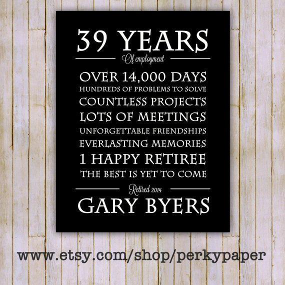 Retirement Gift- Retirement Print- Retirement Poster