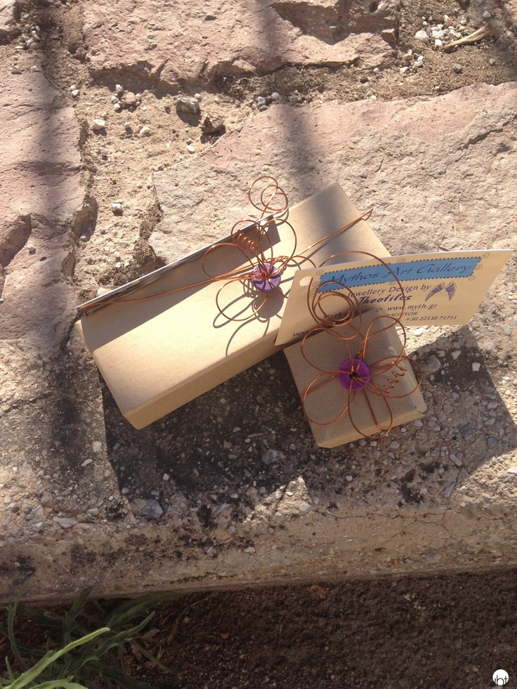 Giftwrapping by Mythos Jewelry in Lesvos Greece inspiredbytraveling.com