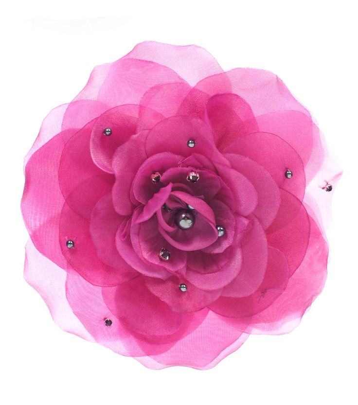 Alannah Hill - Let's Play House Flower, Large fabric flower featuring bead and gem detail, and pin and brooch clips that can be used as a hair clip or a brooch. Perfect for a party, spring races or wedding!