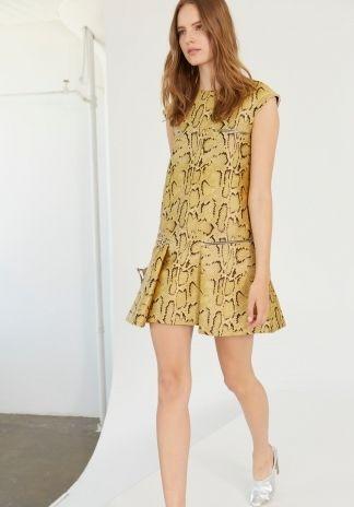 Camomile Snake Gisella Dress. Spring 2014 Look 7