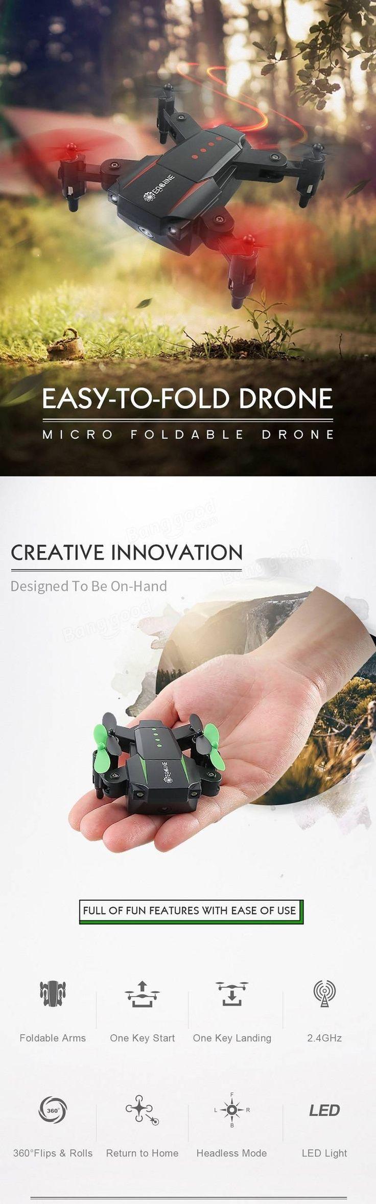 #Eachine E59 Mini 2.4G 4CH 6 Axis Foldable Arm Headless Mode #rc #drone #quadcopters #rtf #style #shopping #love