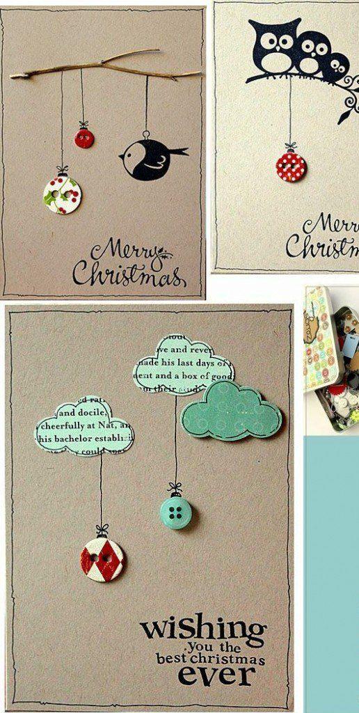 einfache kreativ weihnachtskarten basteln idee