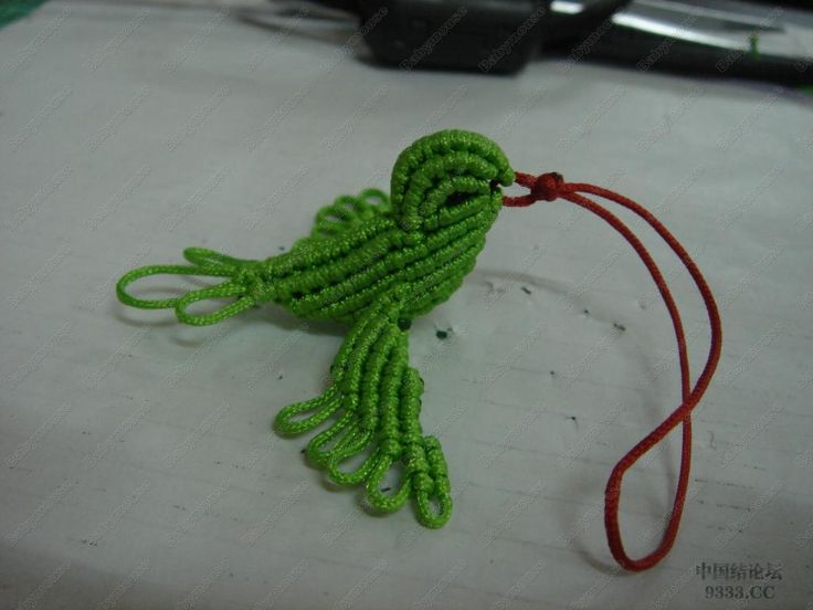 macrame tutorial-bird