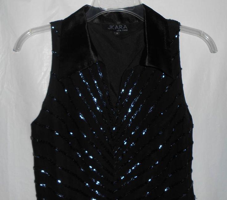 JKARA Formal/Evening Sleeveless Top/Blouse Women Size S ...