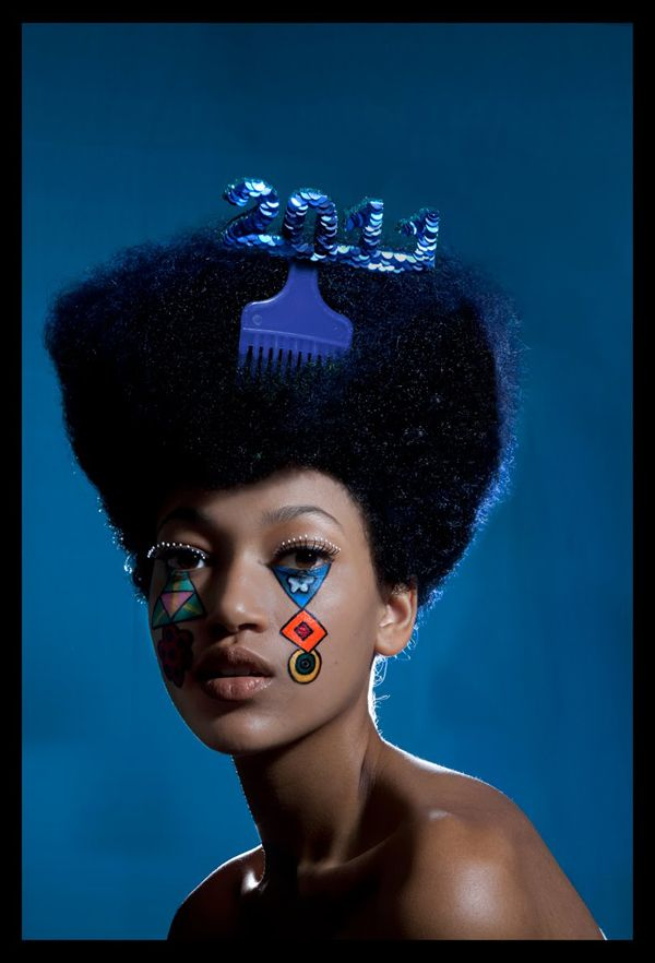 collaboration with Rosy Nicholas for the pick, make up by Megumi Matsuno and Seema Chopra for this sharp angular fro.