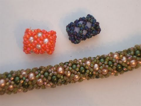 ▶ Tutorial perline (Netted): Come creare un tubulare Netted con perle incluse 1/2 | Tutorial Perline - YouTube