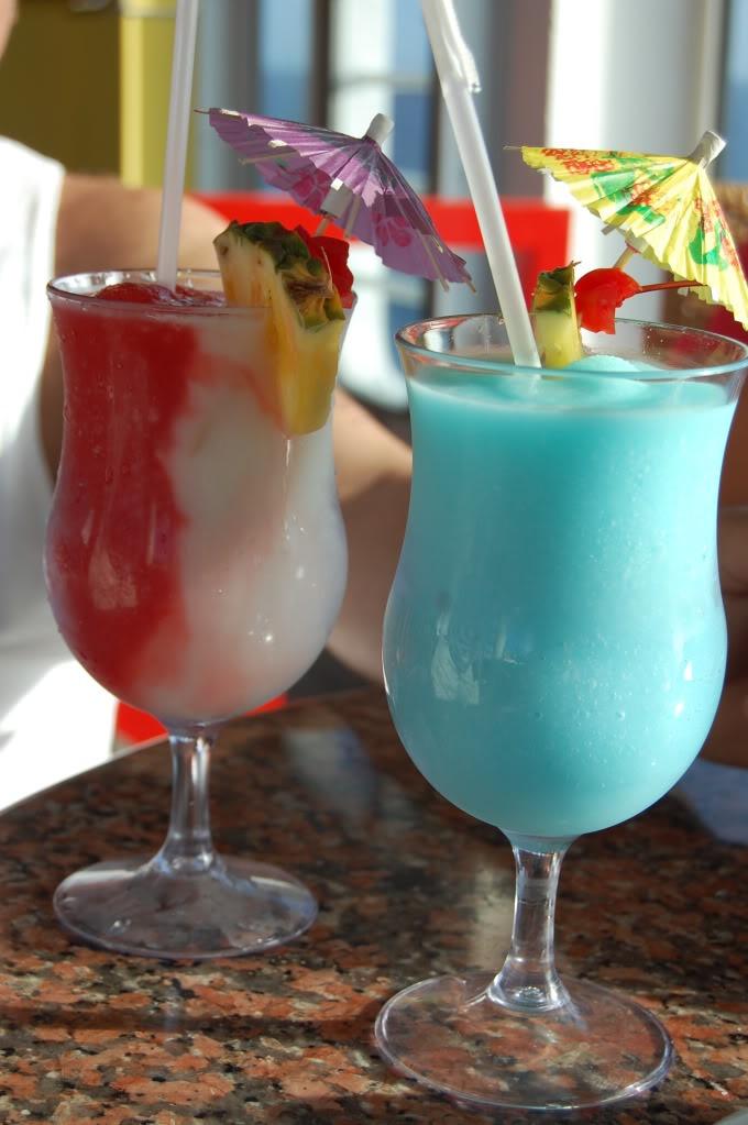2011..... Miami Vice & a blue coconut drink