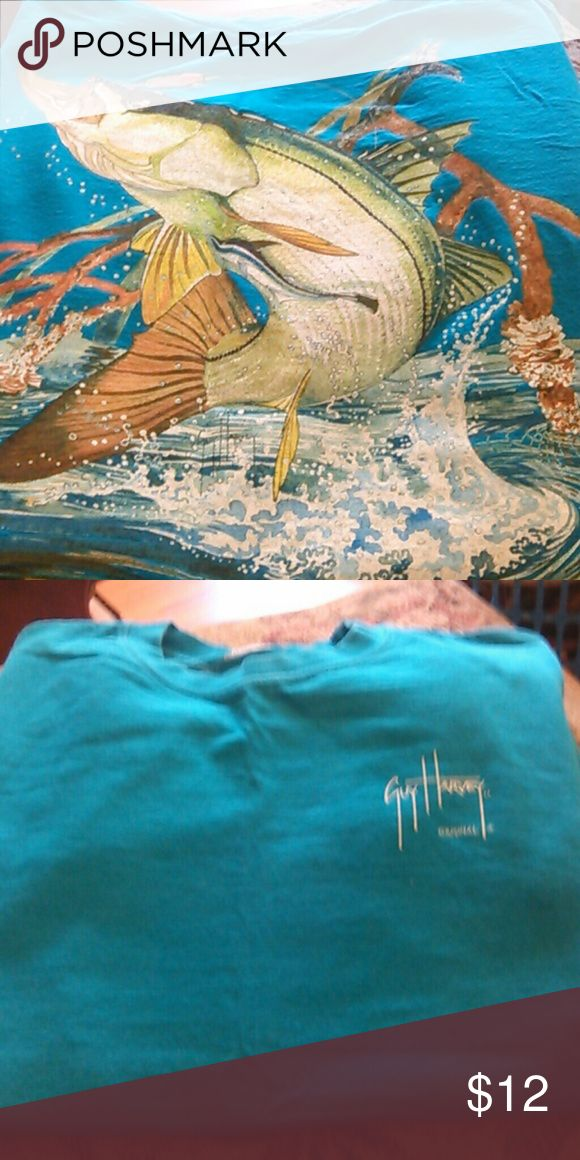 Guy harvey shirt sz small Blue in color nwot back has fish design and front has guy Harvey short sleeves guy harvey Shirts Tees - Short Sleeve
