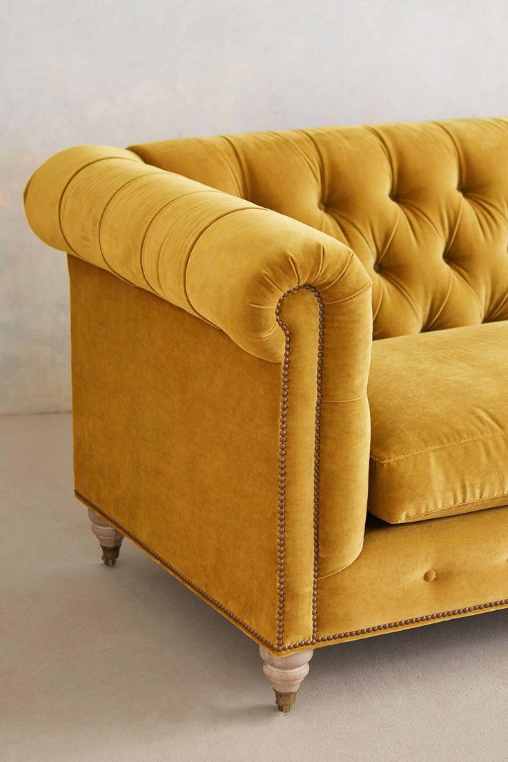 Slide View: 3: Velvet Lyre Chesterfield Sofa, Wilcox