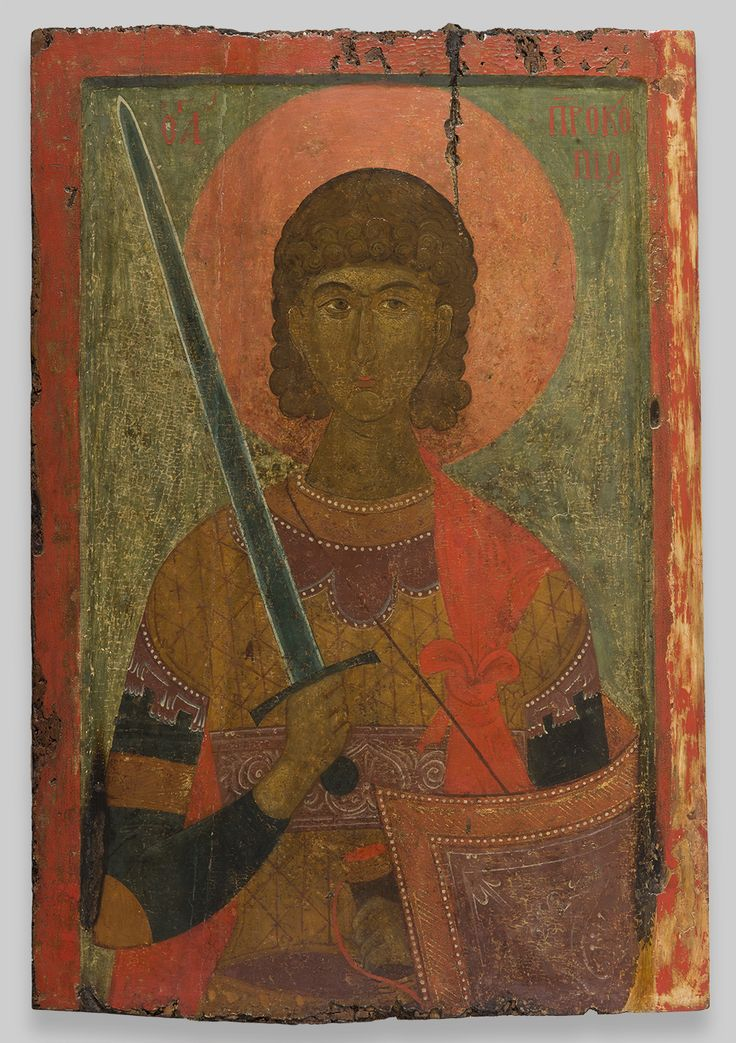 Icon of St. Prokopios, 14th century. Byzantine; Greece, Veroia. Church