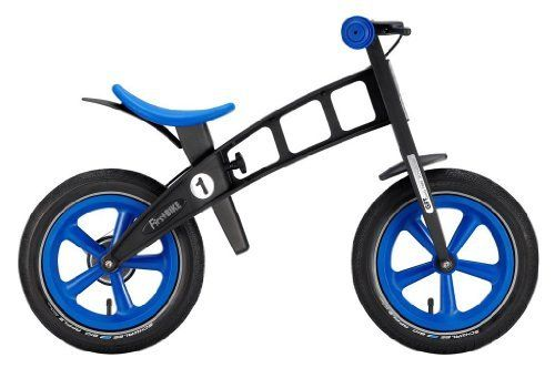 "FirstBIKE ""SPECIAL EDITION"" Balance Bike in Blue by FirstBike. $199.99. Unbreakable Frame Material absorbs trauma from surfaces instead of transmitting them to your child.. Lifetime warranty on frame, fork and wheels. Safety Stop Brake System- adjustable reach hand brake with concealed wheel drum (on models so equipped). Ergonomic No-slip Saddle with balance bike specific shape is always centered. Unitized Handlebars and Fork with Integrated Steering Limiter- prevents sh..."