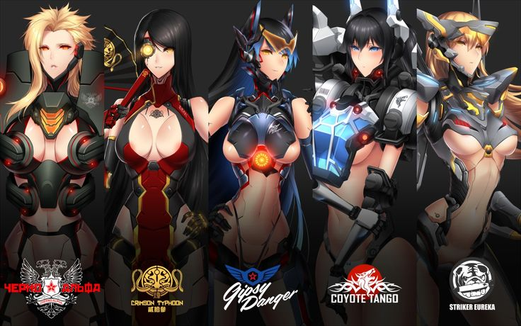 Pacific Rim Jaeger Girl Wallpaper Anthropomorphism Breasts Cherno Alpha Cleavage Coyote