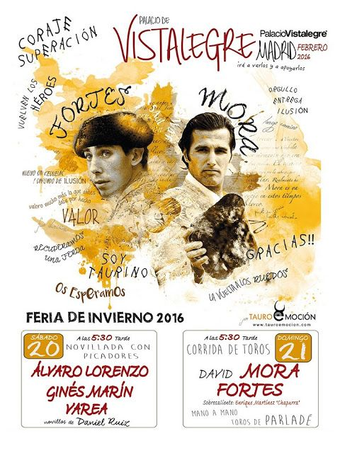 Madrid bullfight tickets: Vistalegre 2016 Winter Fairtwo bullfights in Palac...