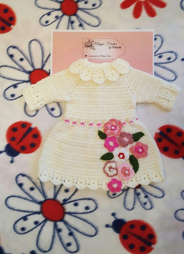 Rochita crosetata, crochet dress