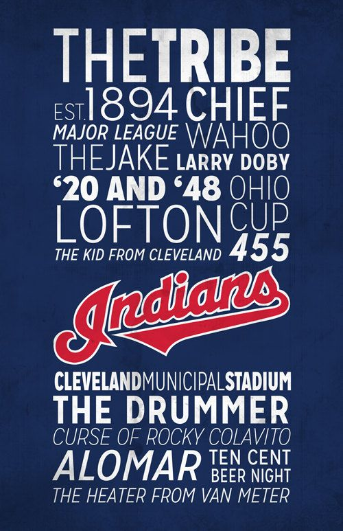 Cleveland Indians Poster!