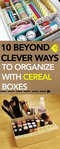 10 Beyond Clever Ways to Organize with Cereal Boxes -