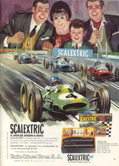 Scalextric press ad.