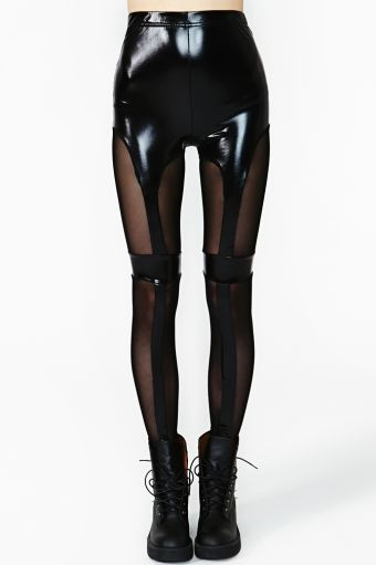 I think any imitation leather would suit this legging better than this type of material.