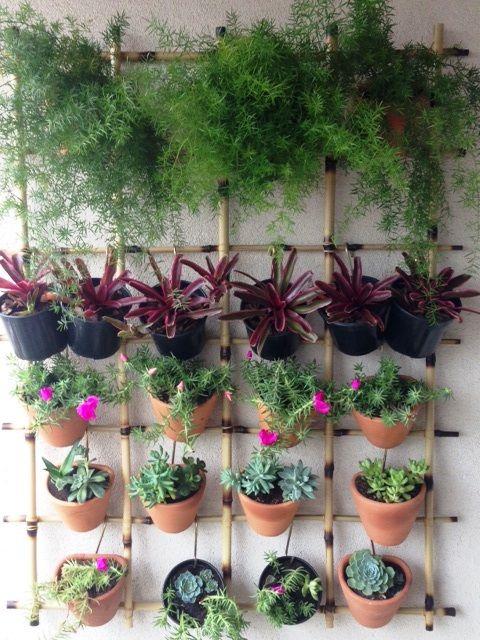 jardim vertical para varanda de apartamento:Jardim vertical em varanda de apartamento. Gradina Jardinagem e