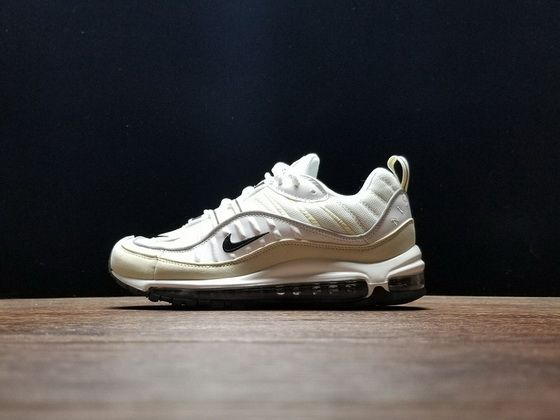 cheap for discount c273b e15a5 2019 的 Nike Air Max 98 Fossil White Light Yellow Black ...