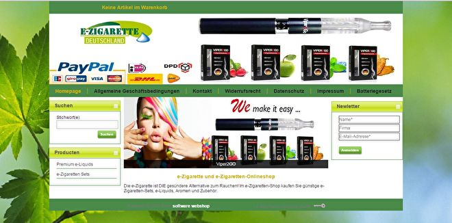 Willkommen auf unseren Online Webshop