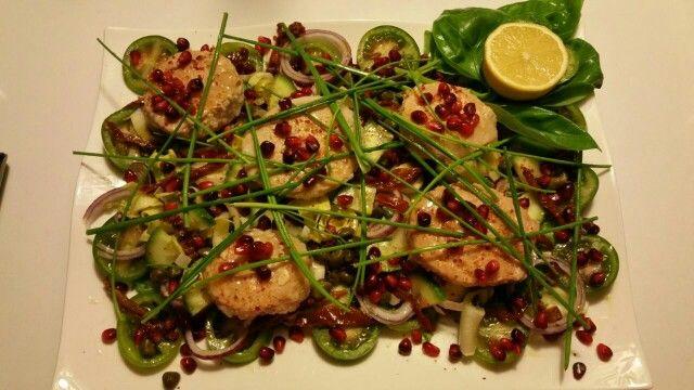 Tuna block salad