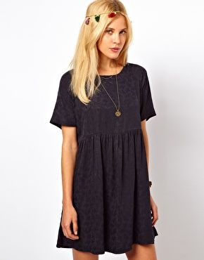 ASOS Smock Dress In Jacquard Tree Texture http://www.asos.com/ASOS/ASOS-Smock-Dress-In-Jacquard-Tree-Texture/Prod/pgeproduct.aspx?iid=2664999=13493=0=0=20=-1=Navy