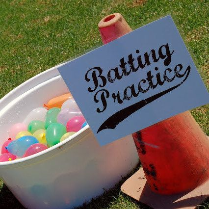Swap Out Baseballs For Water Balloons To Take Backyard Batting Practice The Next Level Party Ideas