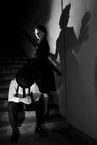 film noir wedding theme | film noir (inspired) photography