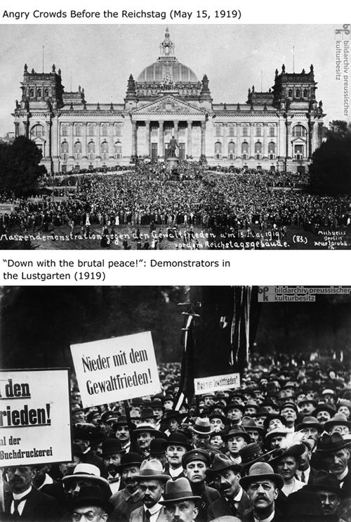 German protests against the Versailles Treaty | Weimar ...