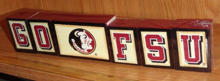 FLORIDA STATE FSU SEMINOLES SHELF DECOR BLOCKS NEW | eBay