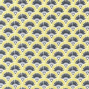 http://www.plushaddict.co.uk/michael-miller-mod-basics-fannie-citron.html Michael Miller Mod Basics Fannie Citron Cotton Fabric