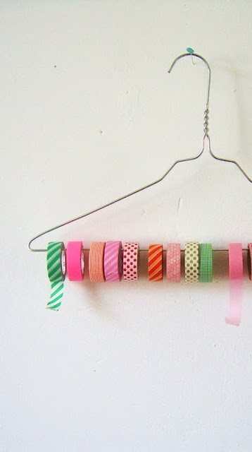 percha con washi tape