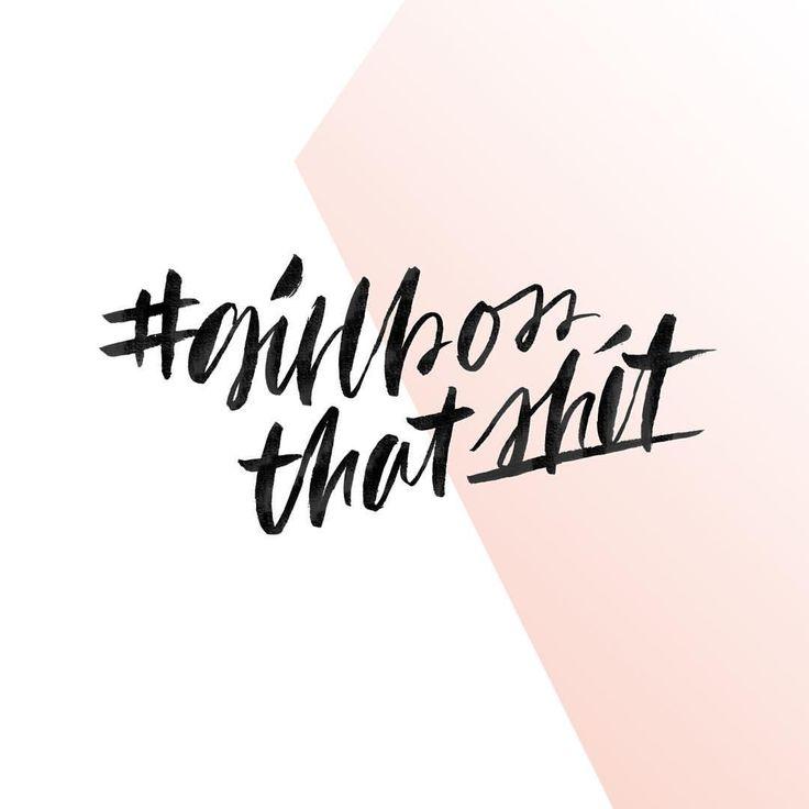 Bosses, Quotes, hand lettering, brush lettering, lettering, freelancers, entrepreneurs - Hope your week has been a whole lot of handlin' it! #girlboss #handleshit #likeaboss