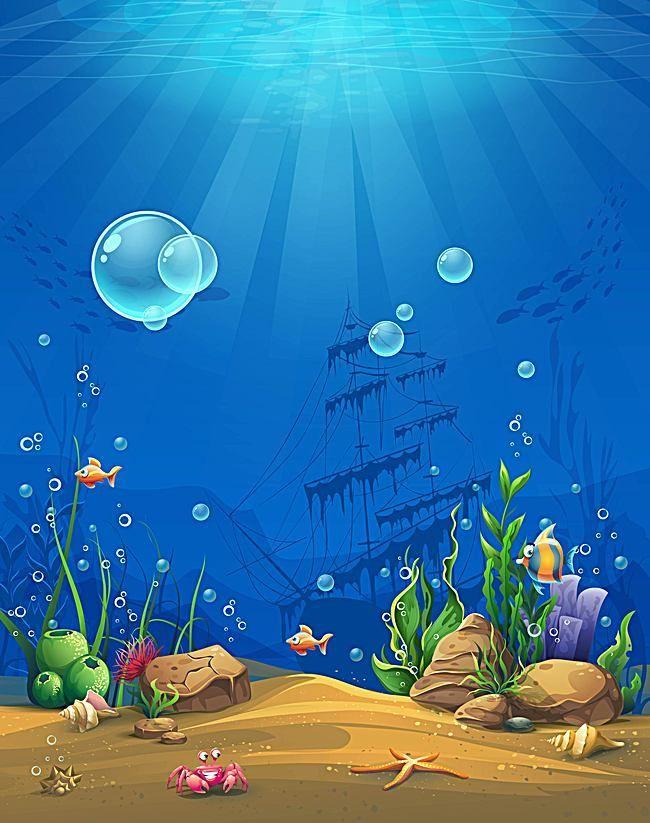 Lua Arte Celebracao Design Background Underwater Painting Underwater Cartoon Cartoon Background