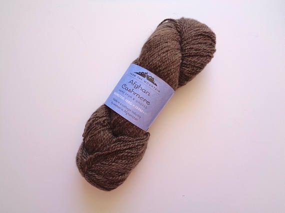 Afghan Cashmere Yarn From the Mountain Dark Brown