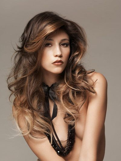 WONDERFUL BROWN AND GOLDEN OMBRE HAIR COLORING
